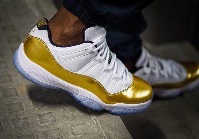 air-jordan-11-low-gold-on-foot-1
