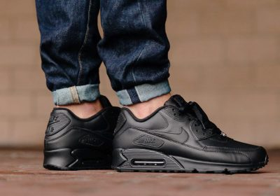 b3b450f58 ... nike air max 90 leather black 302519 001 .