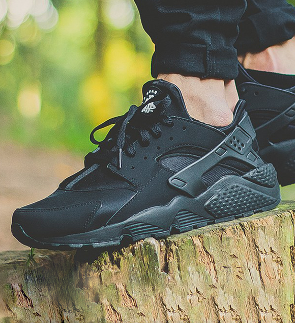 Air Huarache Trainers In Black 318429-003 - Black Nike g08PD