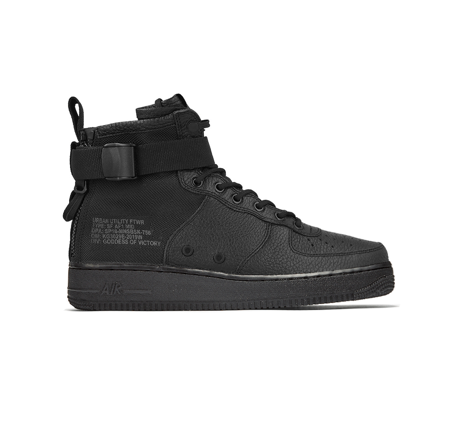 sale retailer 713e4 28ac9 NIKE SF AIR FORCE 1 MID Black 917753-005