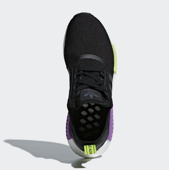 132ae24d68e Adidas NMD R1 Black   Shock Purple (D96627)