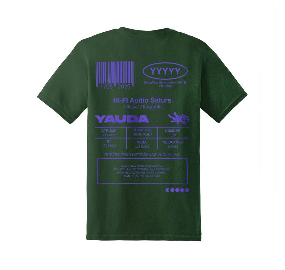 web-YAUDA-zals-aizmugure-bealts-tkrekls-ozols-tshirt